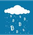 bitcoin mining cloud vector image