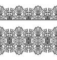 black openwork borders vector image
