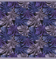 blue style abstract color monstera leaves seamless vector image vector image