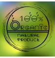 blurred nature background with eco label of vector image vector image