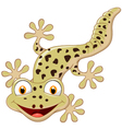 Cartoon smiling gecko vector image vector image