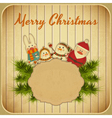 Christmas and New Years Postcard vector image vector image