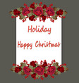 christmas floral border on two sides vector image
