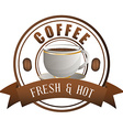 Coffee logo design vector image