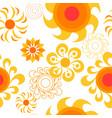 cute sun seamless pattern summer background vector image