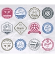Cycling Emblems Stamps vector image