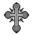 Decorative cross vector image
