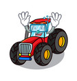 diving tractor character cartoon style vector image vector image
