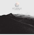 dot stipple old art snowboard vector image vector image
