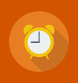 Education Flat Icon Clock vector image vector image