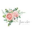 floral wedding invite banner flowers bouquet art vector image vector image