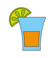 glass lemon flat vector image