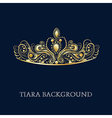 Gold Tiara vector image vector image
