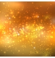 Golden sparkling background with glowing sparkles vector image vector image
