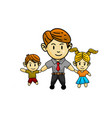 happy fathers day template design vector image