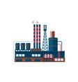 industrial factory building vector image vector image