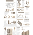 INFOGRAPHIC DEMOGRAPHICS NEW STYLE BROWN vector image vector image