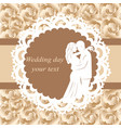 invitation card with the bride and groom in vector image