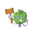 judge green apple character cartoon vector image vector image
