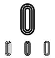 Line letter i logo design set vector image vector image