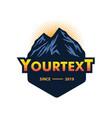 logo mountain camping climbing adventure vector image vector image