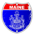 maine flag as a interstate sign vector image vector image