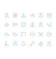 marine icon collection nautical sea or ocean vector image vector image
