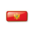montenegro flag on a white vector image vector image