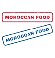 Moroccan Food Rubber Stamps vector image vector image