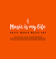 music day celebration background style vector image vector image