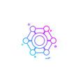 nut icon design vector image vector image