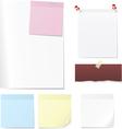 Post memo and sheet vector image