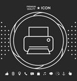 print line icon graphic elements for your vector image