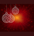 red christmas background with balls vector image vector image