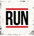running sportswear emblem athletic apparel design vector image vector image