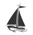 sailing boat logo silhouette vector image vector image