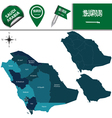 Saudi Arabia map with named divisions