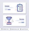 schedule and trophy cup symbols vector image