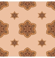 Seamless brown background boho chic vector image vector image