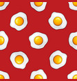 seamless pattern with fried eggs vector image vector image