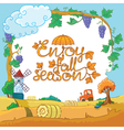 season landscape vector image vector image
