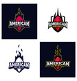 set of modern professional american football logo vector image