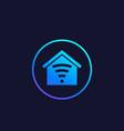smart house app logo vector image
