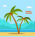 summer vacation cartoon style banners with palms vector image vector image