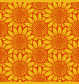 sunflower pattern seamless vector image vector image