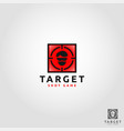 target - shoot game app logo template vector image vector image