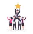 teamwork success business people businessman with vector image