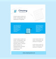 template layout for text document comany profile vector image