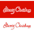 Text Merry Christmas Lettering design vector image vector image