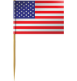 USA Flag Toothpick vector image vector image